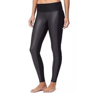 Athleta Faux Leather High Rise Gleam Tights